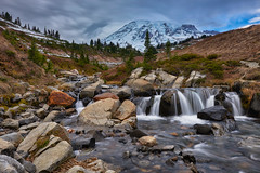 Edith Creek in Mount Rainier National Park (tonytonbridge) Tags: mount rainier national park washington edith creek myrtle falls landscape mountains waterfall blue rocks outdoors nature mother mt river