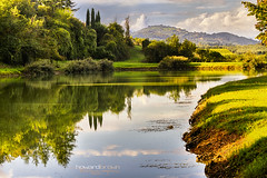 Reflection... (Howard Brown Photographic) Tags: lake lago reflection reflections signa italia italy italian villa castelletti firenze hdr countryside trees water sky cloudsstormssunsetssunrises sunlight