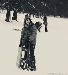 Portrait (Natali Antonovich) Tags: portrait sweetbrussels brussels belgium belgique belgie snow sled sledging sleding christmasholidays christmas monochrome childhood children park nature lifestyle winter