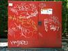 Red sign in sheet (Randall 667) Tags: street art sign lost island graffiti la alien spoon providence sheet rhode hash babs eko ohmy yoke hater alies zesto krome byson quriks rlyer