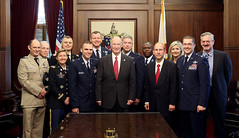 08-14-2015 Air War College Students, Faculty visit Governor Bentley