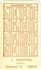 """Calendario para 1929 propaganda """"Californian Poppy"""" Zurich. (reverso) (gubama) Tags: zurich californianpoppy 1929 calendario atkinfons calendariopara1929"""