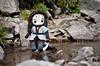 Taking a break by the river (Kiwhoo) Tags: doll dwarf crochet chibi yarn amigurumi crocheted hobbit kili zwerg häkeln häkelpuppe