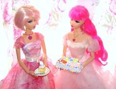 """Piece of cake?"" (Bridget_John316) Tags: birthday pink cake barbie disney bistro wishes rement steffie tarina tarantino 2014 tokidoki"