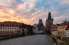 Prague Atmosphere (Nomadic Vision Photography) Tags: winter heritage sunrise europe prague historic atmospheric theczechrepublic jonreid thecharlesbridge tinareid nomadicvisioncom