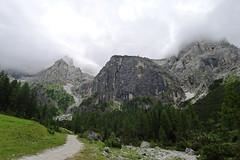 Widok z zejścia z Col Verde