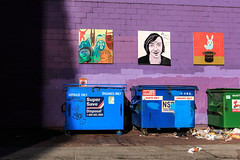 Art and trash (paul.bernier) Tags: street art colors vancouver trash colours purple