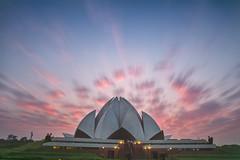 Lotus Temple (Ashmalikphotography) Tags: longexposure sunset colors architecture clouds humanity delhi faith bahai lotustemple ndfilter incredibleindia tokina1116 bahaimandir