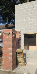 brickwork on the new bathrooms at the park in ridgeland (babyfella2007) Tags: park jason brick sc project bathrooms grant south taylor carolina column restrooms pard turpin ridgeland