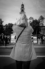 Eiffel in Milan (Andrea Scire') Tags: life street urban woman milan photography italian strada italia foto andrea candid milano streetphotography style tourist gr castello sforzesco ricoh turista scirè italianstreetphotography fotostreetit