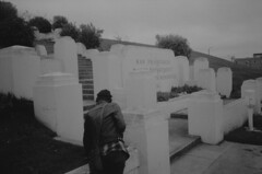 (Zavras) Tags: california summer white black film water cemetery 35mm rachel san francisco gloomy lol like delta olympus xa2 drought looks analogue ilford department 3200iso 2013 zavras