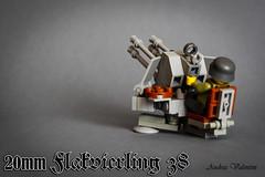 20mm Flakvierling 38 (flak 38) (kr1minal) Tags: brick lego nazi wwii german aa flak 38 moc brickmania panzerbricks