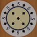 Dalvey Round Playing Card 5 of Spades