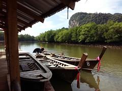 Bor Thor Kayak Trip- (SierraSunrise) Tags: ocean water thailand boats kayak transportation rivers tidal longtailboat krabi borthor