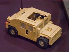 High-Mobility Multipurpose Wheeled Vehicle (HMMWV) (SEdmison) Tags: california lego military convention santaclara humvee hmmwv bricksbythebay bricksbythebay2015