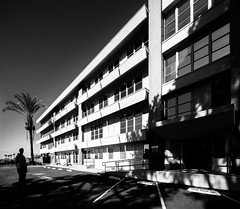 Bay Ho Medical Offices (Chimay Bleue) Tags: shadow bw white black building bay office san sandiego diego medical ho offices clairemont selfie