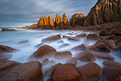 The Pinnacles Long Exposure (Mark McLeod 80) Tags: longexposure seascape rocks australia victoria le vic phillipisland 2015 capewoolamai thepinnacles markmcleod leebigstopper markmcleodphotography