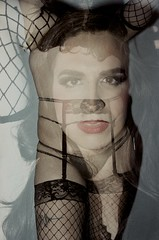 Wear Your Best Face : Charlene at MIX 2015 (Pheral Lamb) Tags: portrait film doubleexposure multipleexposure queer nikonf4 maximalism maximalist mixnyc 357028 faceonbody mixfilmfestival mix2015 wearyourbestface