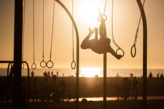 Rings (jpaulus) Tags: sunset beach rings gymnast gymnastics
