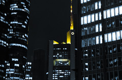 City Lights (nico_enders) Tags: city tower skyline skyscraper germany lights office frankfurt bank stadt bro banks frankfurtammain lichter commerzbank hochhaus commerzbanktower