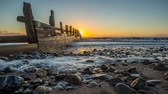 G6.... Groyne 6 at Dawlish Warren-2 (nalamanpics) Tags: sunrise canon dawn coast waves stones wideangle g6 groynes groins dawlishwarren