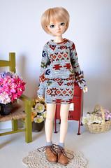 Sweater & Skirt set (Milk and Bunny) Tags: ball doll chloe clothes bjd fairyland jointed minifee milkbunnyboutique