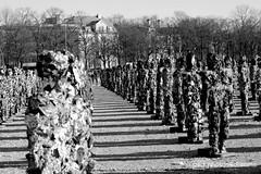 b/w challenge 360/365 - army of waste (photos4dreams) Tags: people bw white black tollwood munich münchen menschen sw waste müll schwarz weis müllmänner photos4dreams photos4dreamz p4d