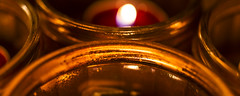 all that glisters is not gold (Redheadwondering) Tags: christmas macro glass candles 67 sigma50mmdgmacro sonya850 115picturesin2015 67glass