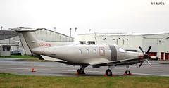 LX-JFW PILATUS PC-12 (douglasbuick) Tags: plane private scotland airport nikon flickr glasgow aircraft aviation pilatus pc12 d40 egpf lxjfw