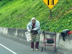 On Ramp (UrbexNW) Tags: panhandlers portland freewayramp evilstare trafficcongestion panhandler