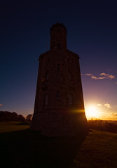 Sunset Silhouette (spiderstreaky) Tags: clouds red nature beautiful sunrise castle countryside broadway cold folly tower fresh yellow d7100 sun nikon cotswoldway horizon sky landmark abstract field light sunshine building historic hilltop worcestershire bright morning classic cotswolds hour landscape golden shadow hills hill blue summit lightroom footpath frost first cloud green hillside big early beauty beacon