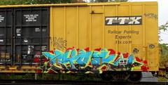 wyse - nekst - gier (timetomakethepasta) Tags: gier wyse nekst freight train graffiti art boxcar ttx tbox whistleblower moniker