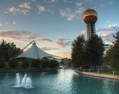Knoxville World's Fair Grounds (Cocoabiscuit) Tags: cocoabiscuit olympus em5 knoxville tennessee worldsfair sunsphere