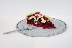 Cherry Pie (W. Navarre) Tags: lego cherry pie dessert taste plate fork filling red dough crust food