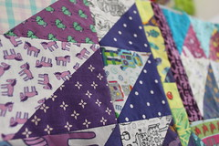 IMG_9847 (Cecca W) Tags: patchwork quilt wip workinprogress sewing spoonflower myfabric patterndesign patterndesigner quilting triangles purple ceccadesigns textiledesign fabric babyquilt patchworkquilt