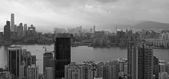 """""""when days are coloured gray"""" (hugo poon - one day in my life) Tags: xt2 23mmf2 hongkong northpoint victoriaharbour kowloon hunghom tsimshatsui icc skyline skyscrapers gray overcast architecture skyscraper city concretejungle autumn"""