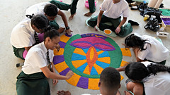 Diwali 2016 #3 (*Amanda Richards) Tags: diwali guyana guyanahindudharmicsabha georgetown rangoli creatingrangoli rice colours colouredrice hindu festivaloflights darkestnight
