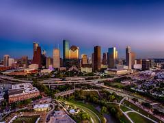 Downtown Houston Skyline (Chris Olbekson) Tags: houstonskyline downtownhouston djiphantom droneshot