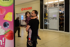 Carried in the Mall (Vegan Butterfly) Tags: people family shopping mall together father dad daddy daughter child kid cute adorable carry carrying