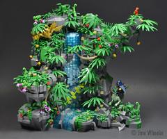 FG Full 1 (Klikstyle) Tags: foitsop lego vignette dinosaur jungle waterfall