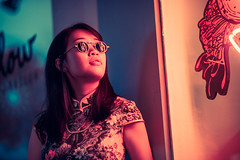 Magic (Jon Siegel) Tags: nikon nikkor d810 105mm 14 afsnikkor105mmf14eed nikon105mmf14 105mm14 woman girl beautiful sunglasses shades romantic night bokeh evening neon street light keongsaik chinese chinatown singapore singaporean singer musician linying people cinematography cinematic wongkarwai