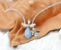 AMAZONITE crystal Angels. (tinnas_slave_bracelet) Tags: necklace statement pearl beaded multi strand crystal gemstone pendant collar bib art beadwork jewelry choker lariat free form unique jewellery