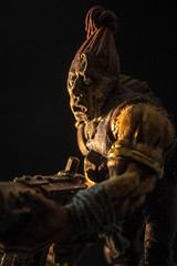 Zombie Apocalypse (SKAC32) Tags: macromondays warhammer40k zombie sidelit extensiontubes canon100mmf28macro spookyandfrightful halloween