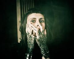 Week #3 (Iris Syzlack) Tags: portrait tattoo artist woman black ornamental hands eyes