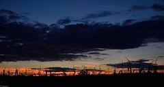 Coucher de soleil d'octobre (Mystycat =^..^=) Tags: ciel sky sunset coucherdesoleil tramonto puestadelsol mas corn paysage soir cornfield
