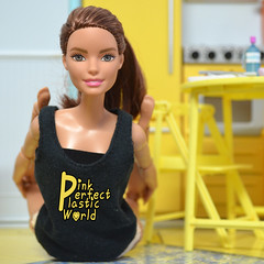 day 15a (pinkperfectplasticworld) Tags: djy08 barbie pink perfect plastic world int jour day nikon doll dolls poupe poupes puppen bambole poppen bonecas dockor nuket dukker  yoga     blue top fitness bambi made move mtm 2015 mueca muecas mattel 16 sport