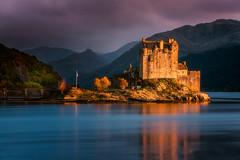 Eileen Donan Castle (devlin11) Tags: eileen donan castle scotland tranquil reflection landscape nikon sunset scenery architecture water