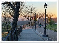 Un paseo al atardecer (Lourdes S.C.) Tags: paseo paseoantoniomachado atardecer farolas parejas baeza provinciadejan paisaje
