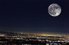 Supermoon (Blurmageddon) Tags: 35mm film analogphotography minolta xd11 kodak portra400 doubleexposure moon supermoon surreal telephoto