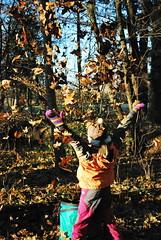 Hurra! (FrauN.ausD.) Tags: herbst laub bume spielen sonne happyhour flickrfriday outdoor kinder natur bunt colourful tree autumn fall leaf kids sun glcklichestunden